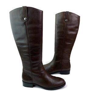 INC Fawne Brown Leather Tall Riding Boots 7.5 New